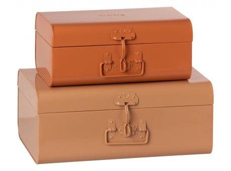 Maileg Kisten Puder Rosa Koffer aus Metall in 2 Grössen Maileg Suitcase Set Nr 19-1530-01