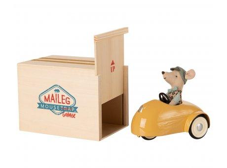 Maileg Maus Auto Gelb mit Garage aus Holz 3 tlg Maileg Set Nr 16-0727-01