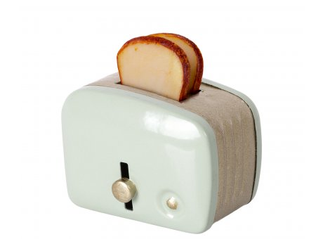 Maileg Mini Brotröster & Toast hell Mint Grün Küche Frühstück Nr. 11-1108-02