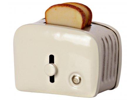 Maileg Miniatur Toaster & Brot Weiß Mäusehaus Brotröster Nr.11-1108-00