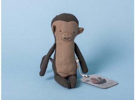 Maileg Noah's Friends Affe schwarz grau Mini Kuscheltier Noahs Freunde 12 cm Stofftier