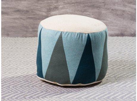 Maileg Puff Medium Drum Mint Grün Natur Sitzpuff mehrfarbig für Kinder Trommel Pouf 24 x 43 cm groß