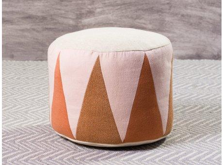 Maileg Puff Medium Drum Rose Natur Sitzpuff mehrfarbig für Kinder Trommel Pouf 24 x 43 cm groß
