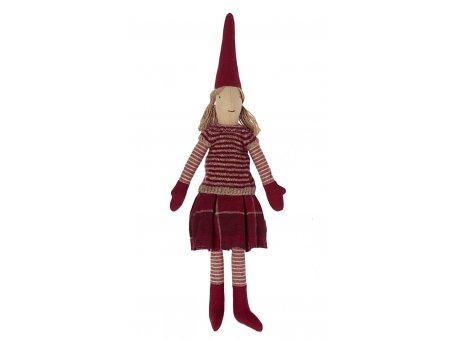 Maileg Puppen Mädchen Winterzeit Rotes Outfit mit Handschuhen und Mütze Dekoration Pixy Nr.14-1420-02