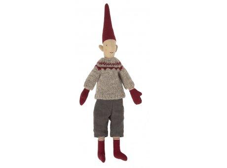 Maileg Puppenjunge skandinavische Mode Weihnachtszeit Zipfelmütze Pixy Deko Nr.14-1420-01