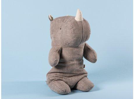 Maileg Rhino grau klein Safari Friends Nashorn 22 cm hoch Kuscheltier Geschenkidee zum Sammeln