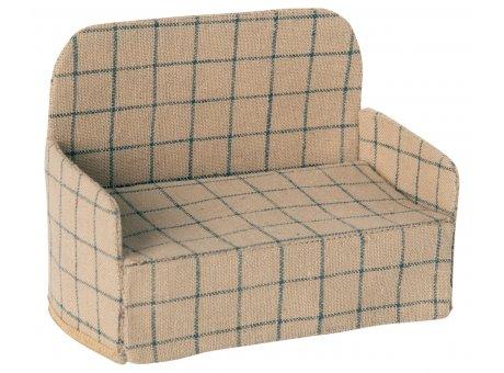 Maileg Sofa aus Leinen in creme mit Muster Maileg Couch Nr 11-0304-00