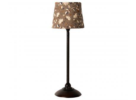 Maileg Stehlampe Miniature Lamp Anthrazit Grau mit Lampenschirm Baumwolle Maileg Nr 11-0116-01