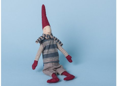Maileg Wichtel Mini mit Magnet Pixi Weihnachtswichtel Nisse Schal blau