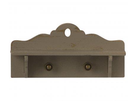 Maileg Regal Miniature mit Ablage und 2 Haken aus Holz Maileg Nr 11-0011-00