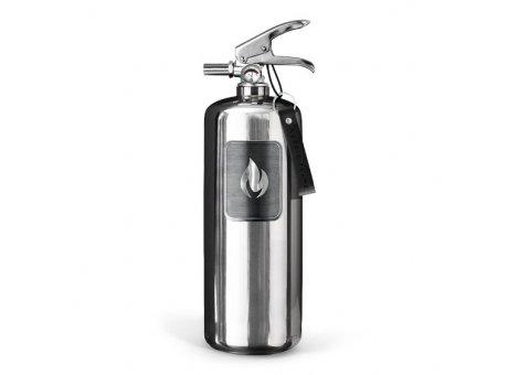 Nordic Flame Feuerlöscher Edelstahl Design Brandschutz Silber  2Kg ABC Pulver Löscher N140