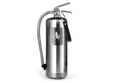 Nordic Flame Feuerlöscher Edelstahl Gross Design Brandschutz Silber  6 Kg ABC Pulver Löscher N151