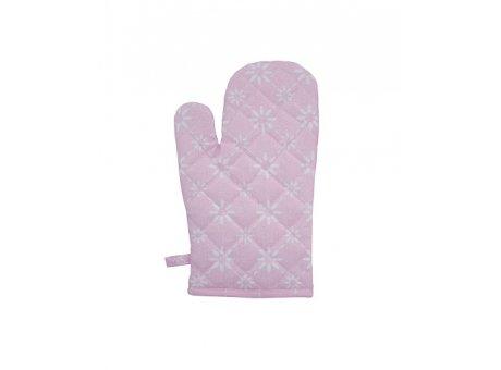 Ofenhandschuh Diagonal rosa pink Blumen weiß Krasilnikoff