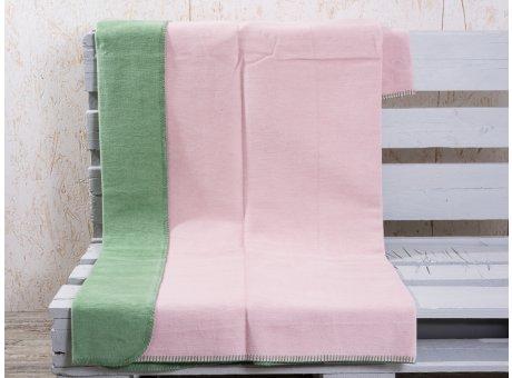 Pad Decke Hobart rosa grün Wohndecke pink hellgrün