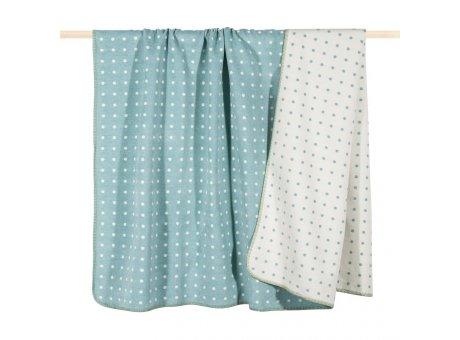 Pad Decke Punkte aqua türkis weiß Wolldecke gepunktet von pad concept