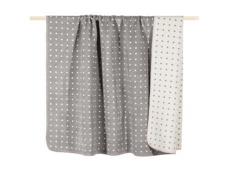 Pad Decke Punkte grau weiß Wolldecke gepunktet von pad concept