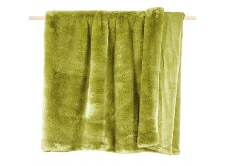 Pad Decke Sheridan grün Pad Concept Felldecke aus Kunstfell 140 x 190 cm