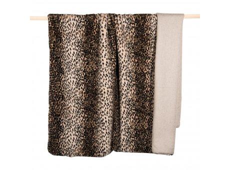 Pad Decke Wild Caramel Kunst Felldecke 140x190 Kuscheldecke Leopard Karamell