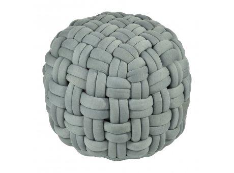 Pad Hocker Lokken dusty Mint grün Knoten Pouf Sitzkissen aus Polyester 59x40 cm Sitzpuff von Pad Concept Home Design