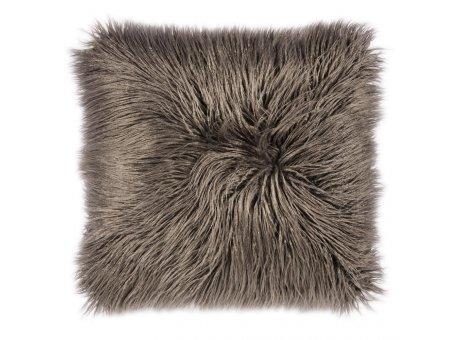 Pad Kissen Fluffy Fellkissen grau Kissenhülle 60x60 aus Kunstfell von Pad Concept