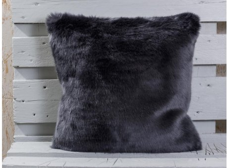 Pad Kissen Sheridan grau Fellkissen Rückseite samt Kissenbezug pad concept