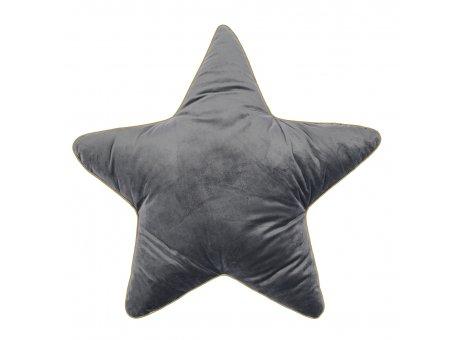 Pad Kissen Superstar grau großes Stern Kissen 60x60 mit Füllung Pad Concept Weihnachtsdeko