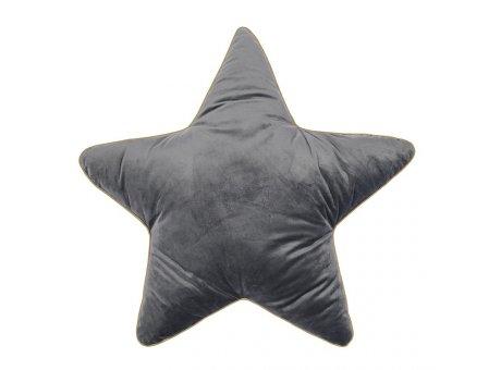 Pad Kissen Superstar grau Stern Kissen 40x40 mit Füllung Weihnachtsdeko