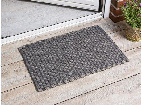 Pad Outdoor Fussmatte Jim grau beige Matte 52x72 Pad Concept stone sand für draußen Haustür waschbar