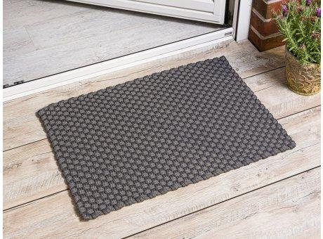 Pad Outdoor Fussmatte Uni Grau Matte 52x72 Pad Concept stone für draußen Haustür waschbar