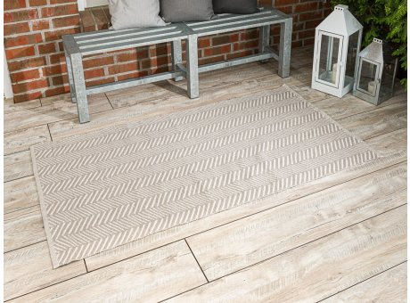 Pad Outdoor Matte Harry beige Matte 92x172 groß Läufer Pad Concept sand für Terrasse und Balkon waschbar