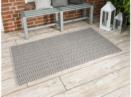 Pad Outdoor Matte Harry grau Matte 92x172 groß Läufer Pad Concept stone für Terrasse und Balkon waschbar