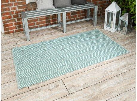 Pad Outdoor Matte Harry türkis aqua mint Matte 92x172 groß Läufer Pad Concept opal für Terrasse und Balkon waschbar