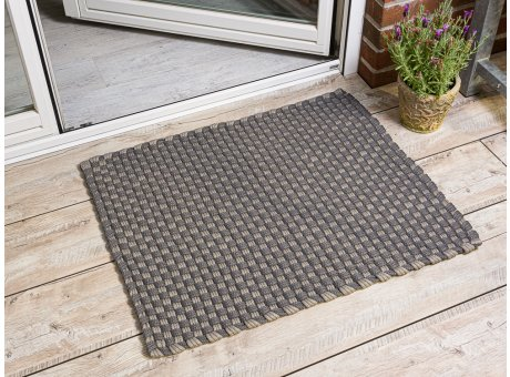 Pad Outdoor Matte Jim grau beige Matte 72x92 Pad Concept stone sand für Terrassentür außen Fußmattte waschbar