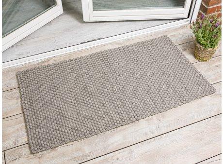 Pad Outdoor Matte Uni Beige Matte 72x132 Pad Concept sand für Terrassentür außen Fußmatte waschbar