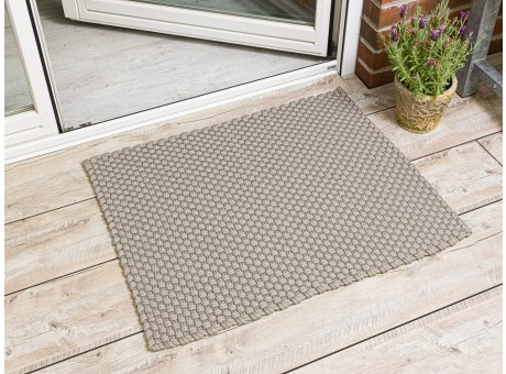 Pad Outdoor Matte Uni Beige Matte 72x92 Pad Concept sand für Terrassentür außen Fußmatte waschbar