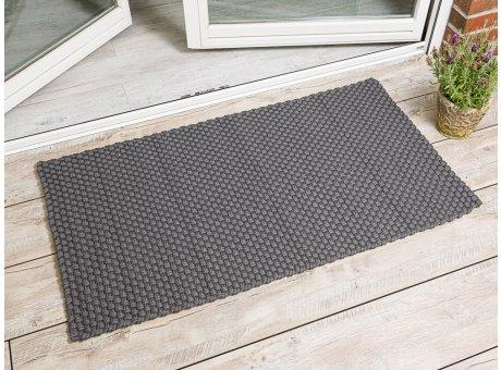 Pad Outdoor Matte Uni Grau Matte 72x132 Pad Concept stone für Terrassentür außen Fußmatte waschbar