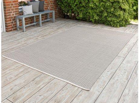 Pad Outdoor Teppich XXL Akzent creme beige 200x300 cm groß Pad Concept für die Terrasse innen und außen waschbar