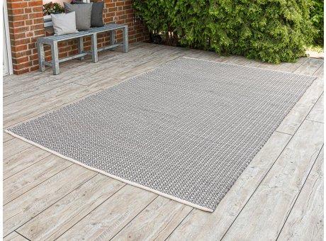Pad Outdoor Teppich XXL Akzent grau beige 200x300 cm groß Pad Concept für die Terrasse innen und außen waschbar