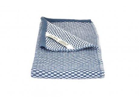 Solwang Gäste Handtuch Antik Blau Dunkel Natur Bio Baumwolle gestrickt 32x47 cm Solwang Tuch Nr BH02102