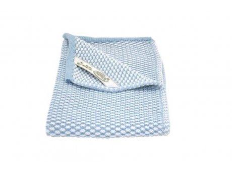 Solwang Gäste Handtuch Antik Blau Hell Natur Bio Baumwolle gestrickt Hellblau 32x47 cm Solwang Tuch Nr BH02100