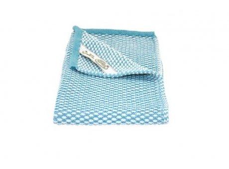 Solwang Gäste Handtuch Azur Blau Natur Bio Baumwolle gestrickt 32x47 cm Solwang Tuch Nr BH02116