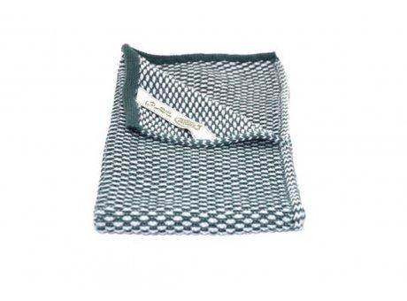 Solwang Gäste Handtuch Petrol Natur Bio Baumwolle gestrickt 32x47 cm Solwang Tuch Nr BH0235