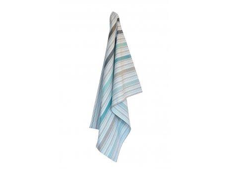 Solwang Geschirrtuch Streifen Multi Azur Grau Bio Baumwolle gestrickt 50x70 cm Solwang Geschirrhandtuch Nr OV36