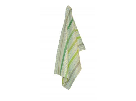 Solwang Geschirrtuch Streifen Multi Grün Bio Baumwolle gestrickt 50x70 cm Solwang Geschirrhandtuch Nr OV27