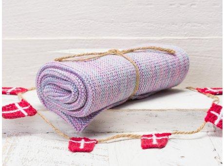 Solwang Handtuch aqua rosa mix Küchentuch aus Baumwolle gestrickt H08