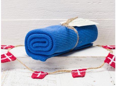 Solwang Handtuch blau klar Küchentuch klares blau aus Baumwolle gestrickt H24