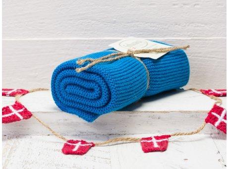 Solwang Handtuch Blau Küchentuch aus Baumwolle gestrickt starkes blau H27
