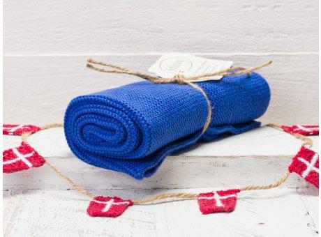 Solwang Handtuch blau Kuechentuch Kobalt blau aus Baumwolle gestrickt H25