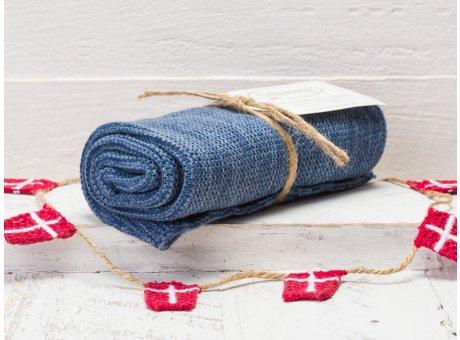 Solwang Handtuch Blau meliert Küchentuch Baumwolle gestrickt blau Cowboy Mix H59