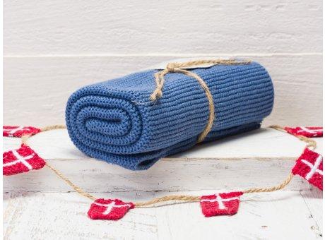 Solwang Handtuch blau staubig Küchentuch aus Baumwolle gestrickt H21
